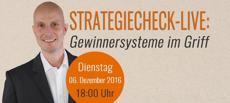 Der Strategiecheck - LIVE
